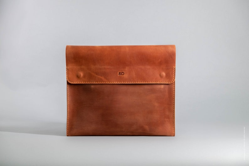 Document holder and laptop sleeve Personalized Document folder Christmas gifts for boyfriend Leather document case