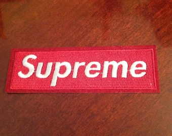 4 5 Supreme Iron On Red Embroidered Patch Free Usa Shipping