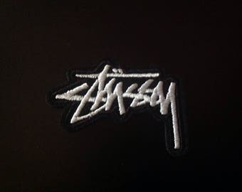 """2"""" Stussy worldwide script logo embroidered iron on patch Free usa Shipping"""
