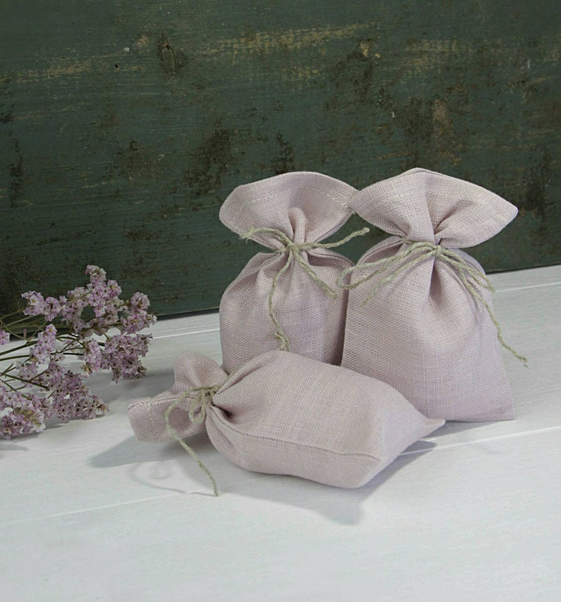 Linen Gift Bag Small Favor Girls Birthday Bags Party