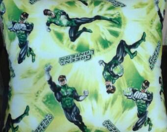 Green Lantern Cushion Cover - Handmade