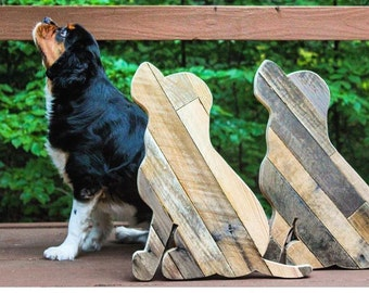Reclaimed Wood Dog Silhouette