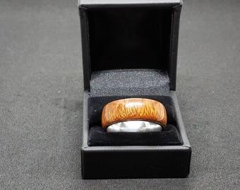 Sapele Wood Ring Size 14