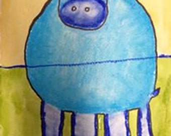 Fun hippo painting for all kids - art kit provides step by step instructions plus all the materials you need to get started.