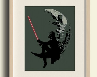 Star wars Cross Stitch Pattern/Darth Vader Embroidery/  death star/Gift/baby/Instant download pdf/ #C8