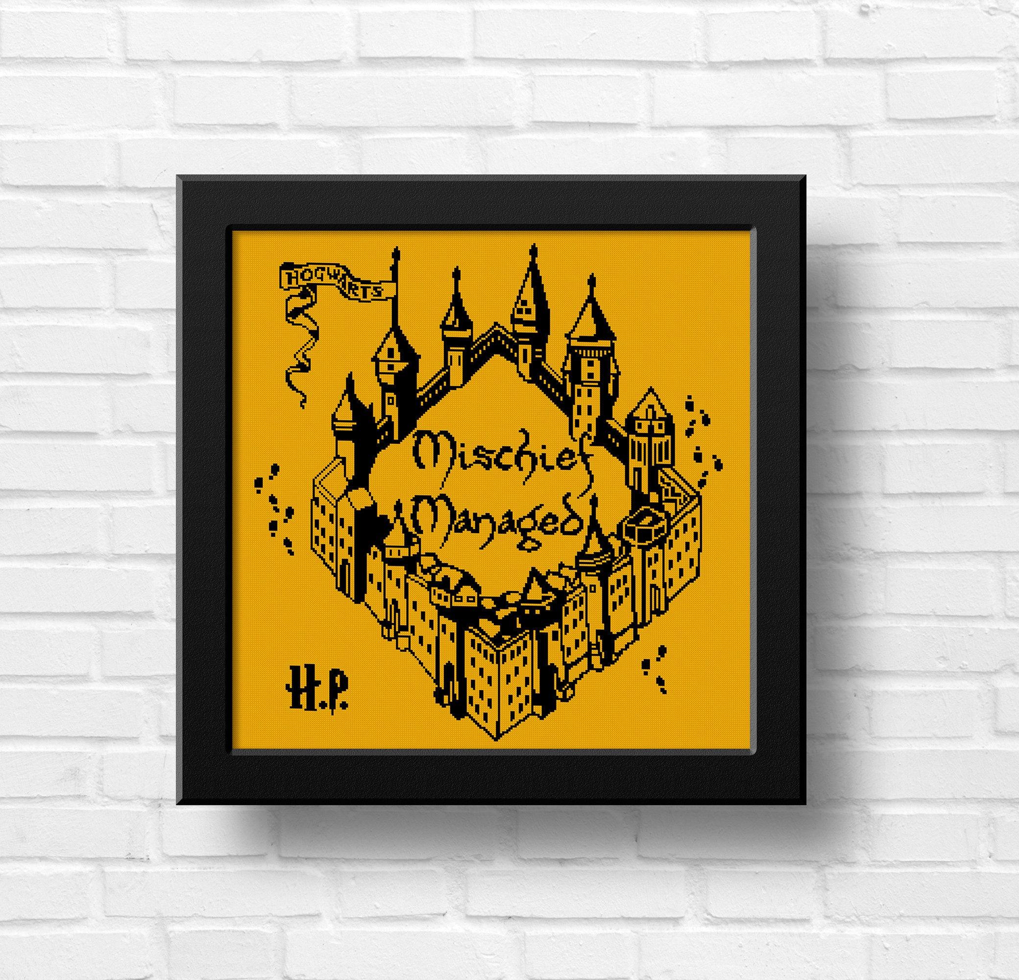 BOGO FREE!Harry Potter cross stitch pattern/Mischief Managed/Quote ...
