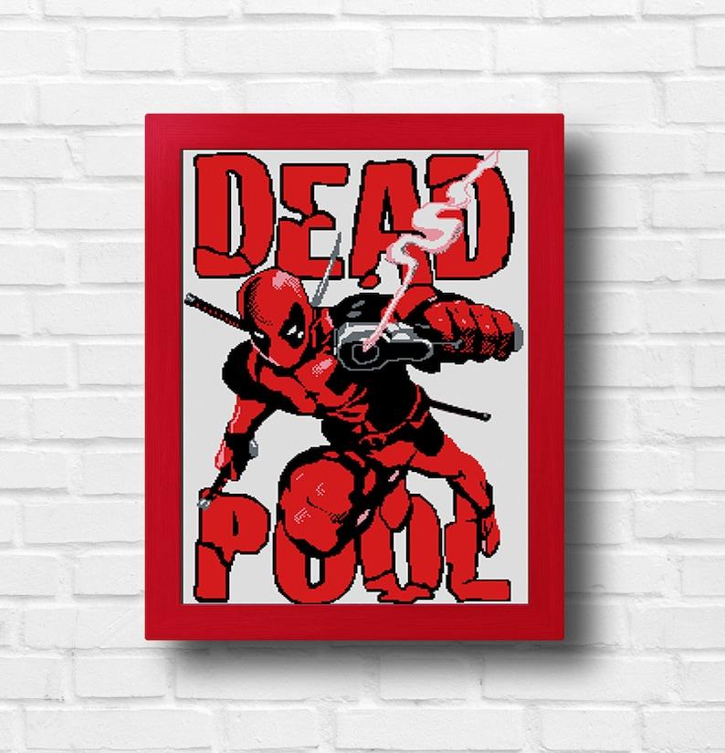 Marvel Deadpool Cross Stitch Patternx Forcefunny Etsy