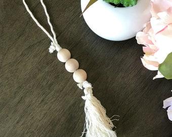 Wood beads garland