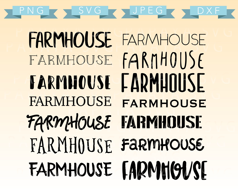 Download Farmhouse Fonts Cut File SVG PNG DXF Cricut Sihouette   Etsy