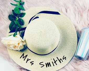 7218206c6e1 Personalised straw hat