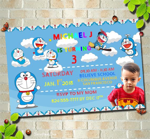 Doraemon Birthday Invitation Template 8