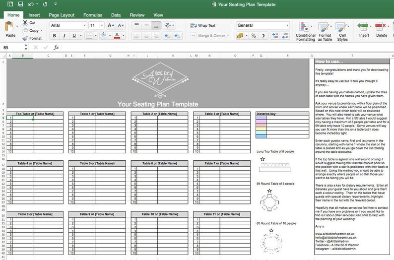 Your Seating Plan Template image 0
