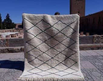 Moroccan Beniouarain Wool And Cotton Carpetberber Rug 280 Cm Etsy
