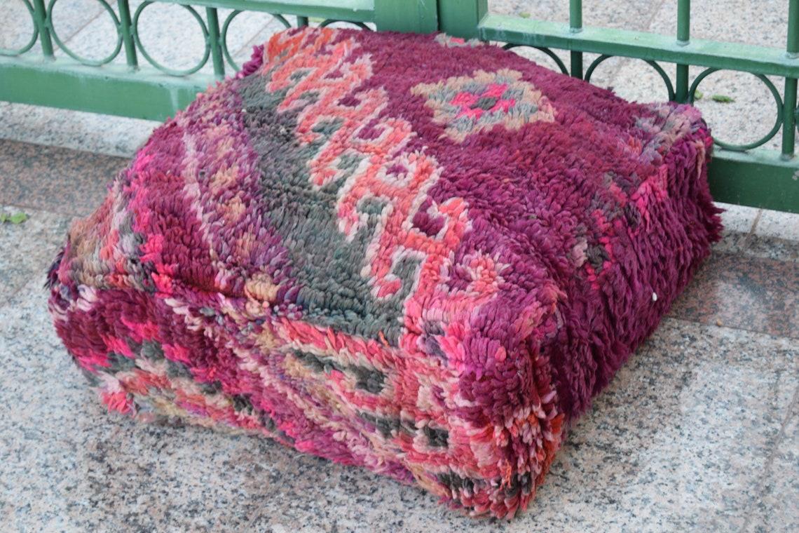 Rare Berber pouf Gift Multicolor Berber Best selling Vintage furniture Home decor footstool Handmade design pouf Boujaad  Floor poufs