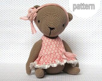 Crochet pattern, amigurumi  pattern, teddy bear pattern, pdf, amigurumi teddy bear, toy crochet, pdf instant download, crochet bear