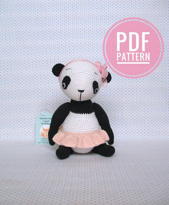 Crochet Pattern Amigurumi Pattern Amigurumi Panda Pdf Etsy