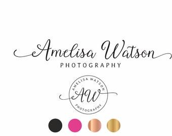 Text Logo, Text Logo design, Calligraphy logo, Photography logo, Gold logo, Logo design, Signature Logo, Photographers Logo, Script logo