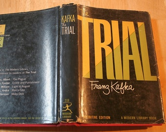 The Trial by Franz Kafka--Translated by Willa and Edwin Muir--Copyright 1937--The Modern Library, Random House--Shipping Included