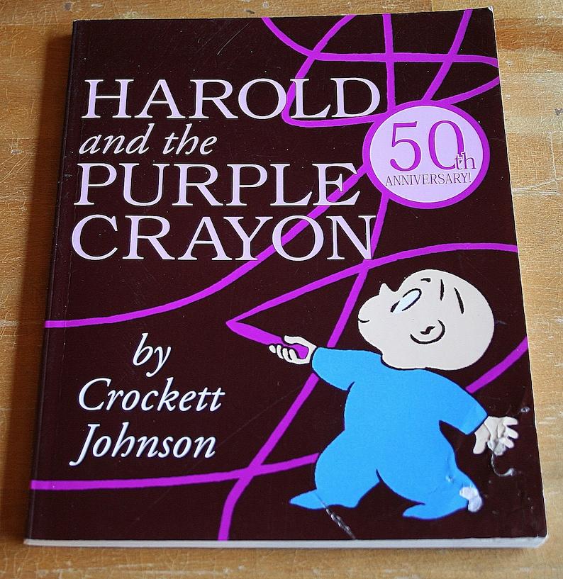 Harold And The Purple Crayon By Crockett Johnsoncopyright Etsy