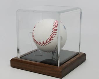 Baseball Display Case Etsy