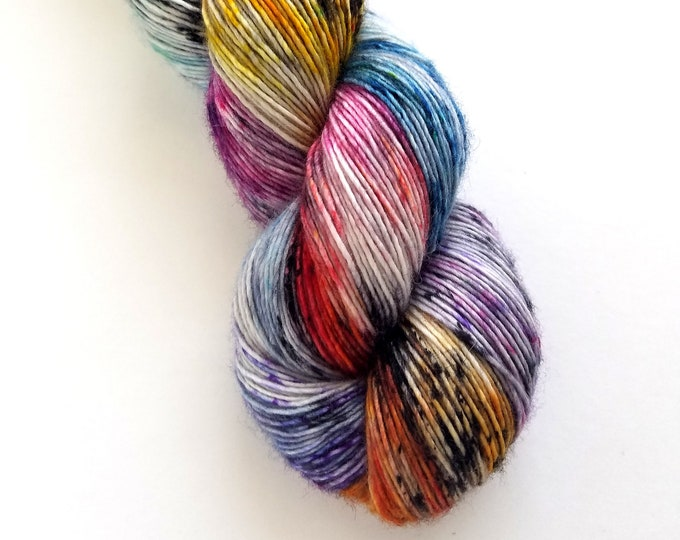 Featured listing image: Veronica Single Ply Fingering Hand Dyed Yarn