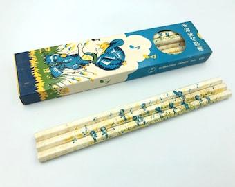 Rare vintage Japanese manga pencils TWIN set Chikyu 9262 /& 9263 Japan stationery vintage pencils pencils in a box of 12 HB pencils