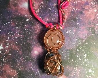 Rose Quartz + Rhodonite Necklace