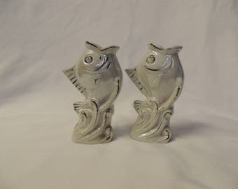 Vintage Matching Miniature Fish with Silver Accent