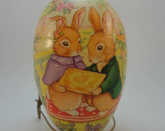 Antique Easter Egg Candy Container, Western Germany, Peter Rabbit