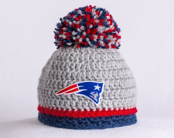 New England Patriots baby hat