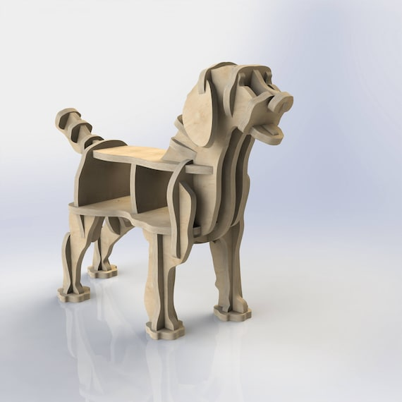 CNC-Schnittmuster für Sperrholz Labrador Hund Bücherregal | Etsy