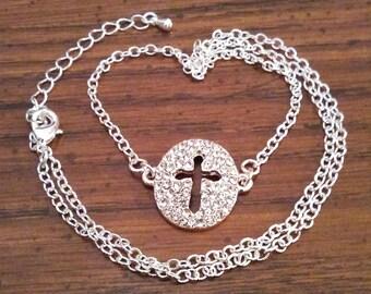 Sparkle - Cross - Pendant - Necklace