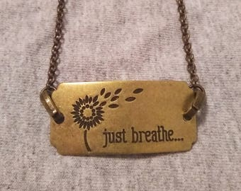 Just Breathe - Buckle - Necklace