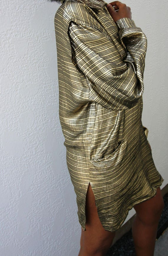 Vintage Gold Lame Tunic