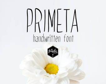 Primeta handwritten font / for personal and commercial use / 328 glyphs