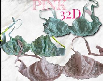 Victoria's Secret Pink Vintage Lace Bras - 3 - size 32D