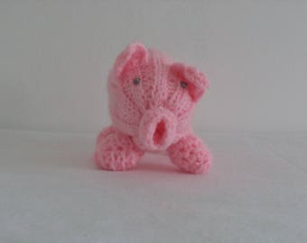 Little Crochet Pink Pig/Hand-made toys/Happy Children Gift