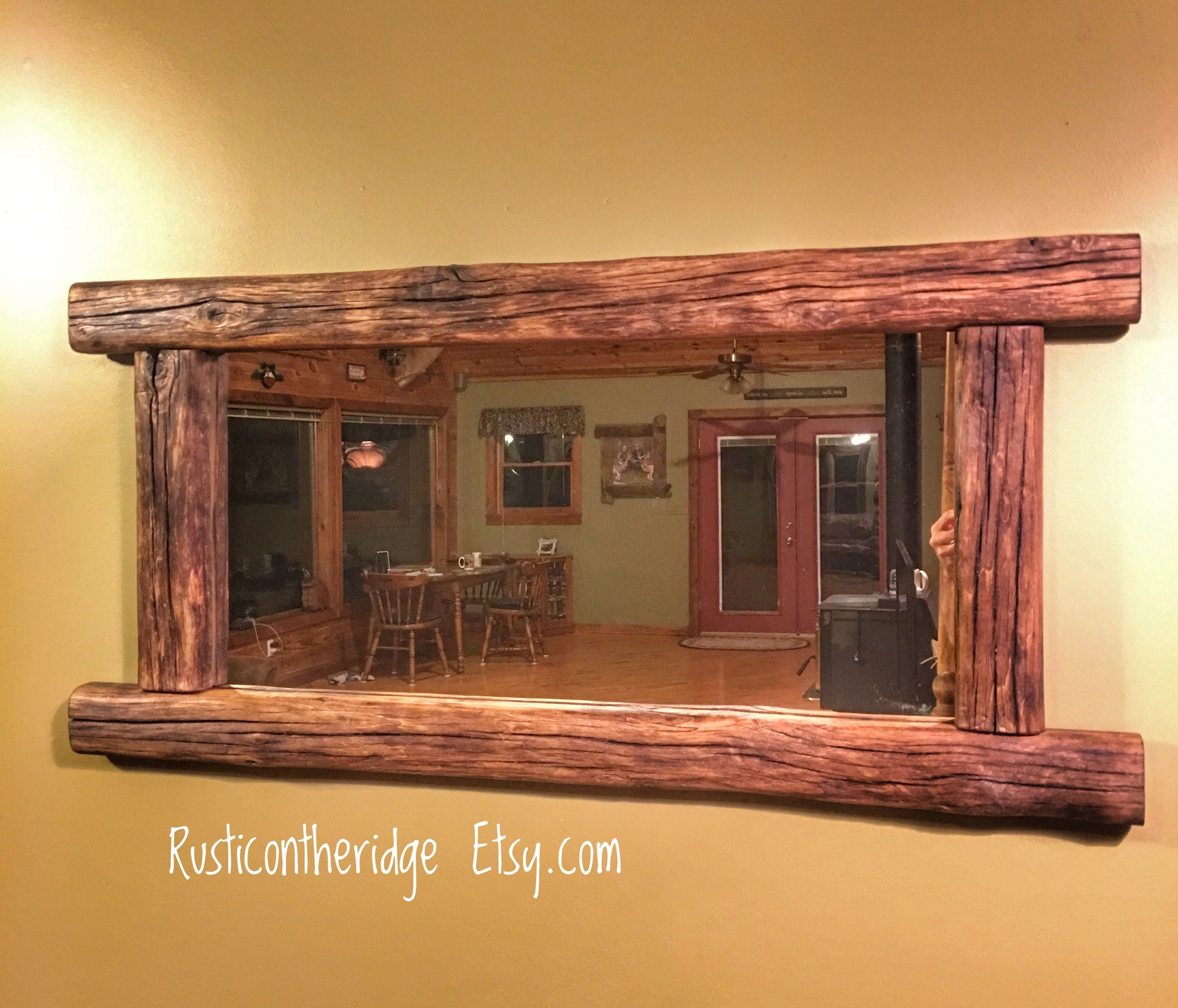 Driftwood Mirror Rustic Western Mirror Rustic Decor Driftwood Art Driftwood Western Wood Decor Cabin Lake House Lodge Shabby Chic Decor