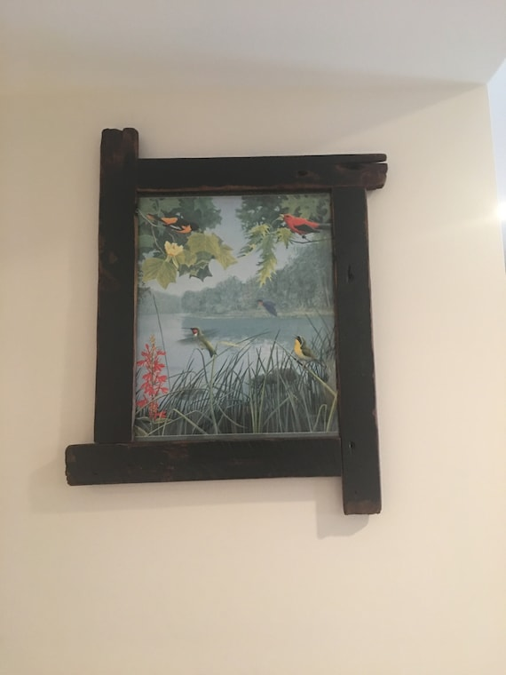 Rustic Picture Frame 20 X 16 Rustic Frame Western Wood Etsy