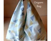 PDF Pattern - Reversible Origami Bag - Zero Waste Pattern - Beginner Sewing Pattern