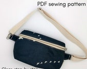 PDF Pattern - zippered hip bag - zippered fanny pack - Zero Waste Sewing Pattern