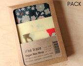 Vegan wax kitchen wrap - Organic cotton - 3 pack - Various fabrics