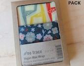 Vegan wax kitchen wrap - Organic cotton - 2 pack - Various fabrics