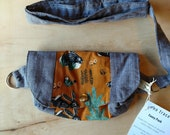Organic cotton fanny pack - all natural, synthetic-free.  Bum bag, women's fanny pack, men's fanny pack, hip bag.