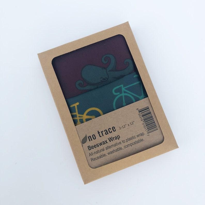 Beeswax kitchen wrap  Organic cotton  2 pack  Bike & image 0