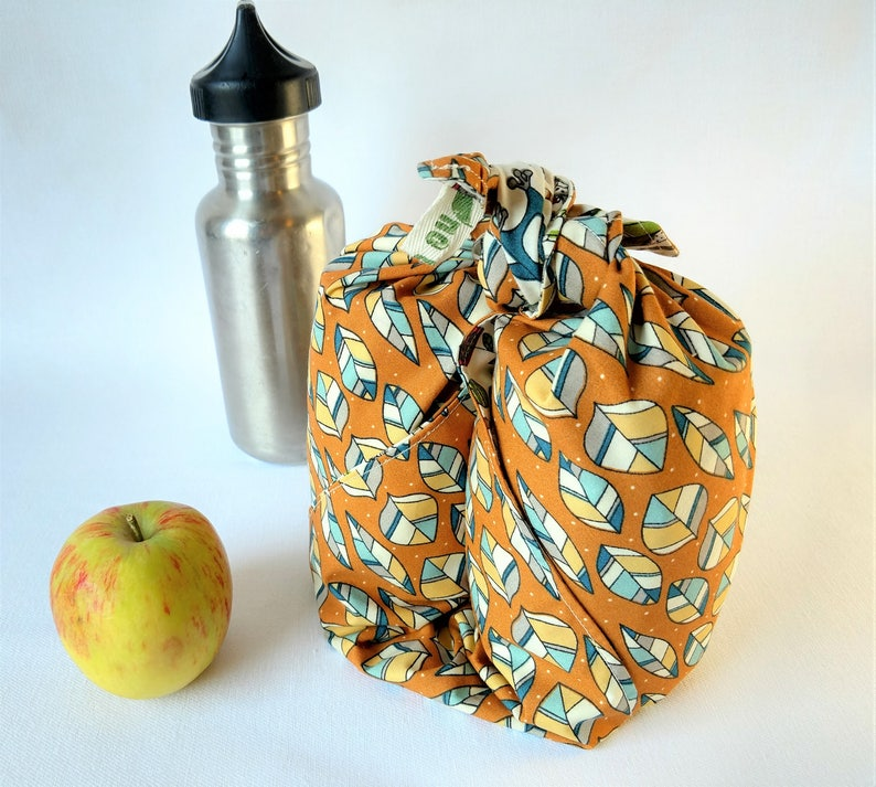 Organic cotton furoshiki wrap  Japanese wrapping cloth image 0