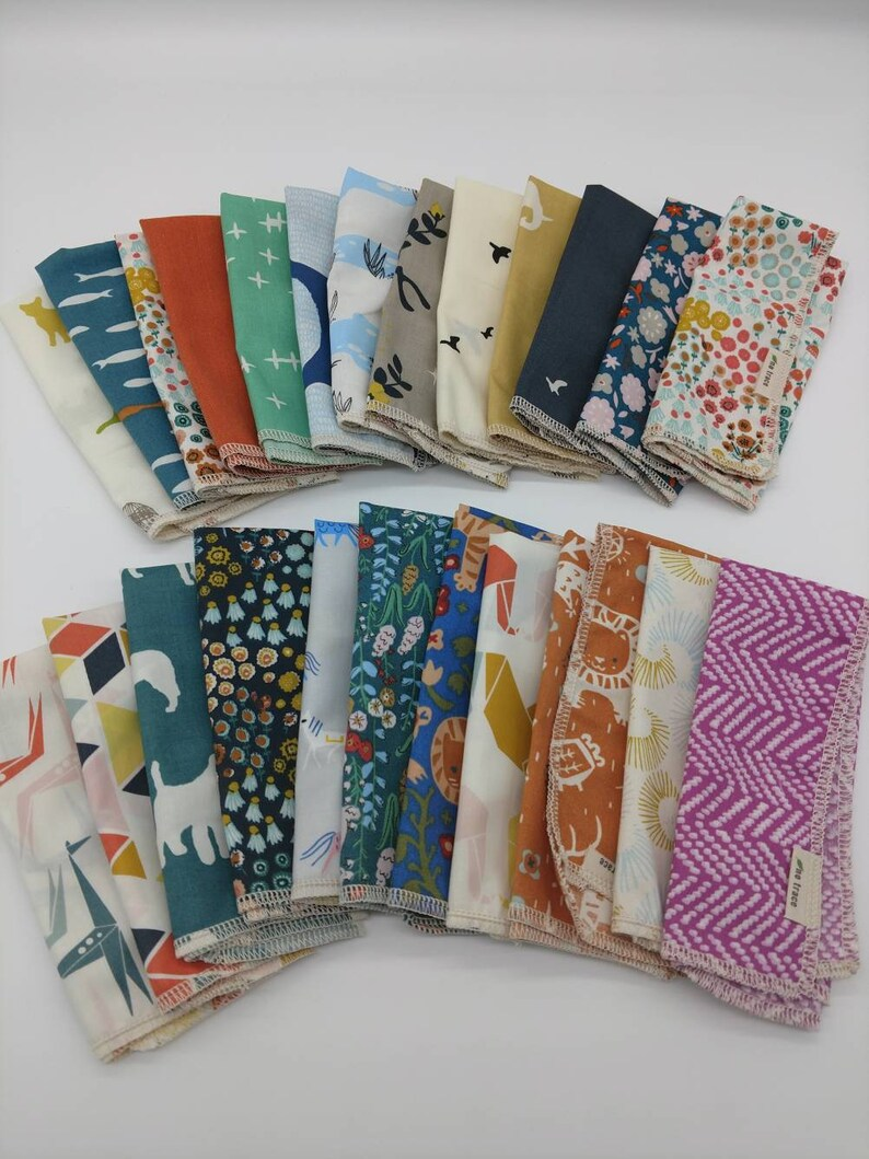 Organic Cotton Napkin  lots of fabric choices image 0