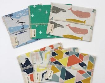 Organic cotton snack bag - lots of fabrics - pick your fabric!  Zero waste snack bag