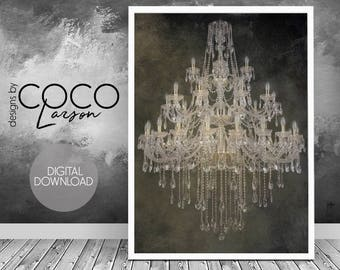 Chandelier Poster Etsy