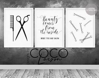 Beauty salon decor | Etsy